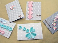 ¿Quieres hacer una tarjeta romántica y muy original? Aquí os dejamos una idea sencilla con corazones en 3 dimensiones