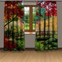 Podzimní park - 3D závěs
