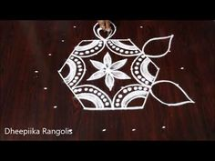 Simple rangoli 7X4 dots - Simple rangoli designs - Daily kolam-Simple muggulu- Easy rangoli designs - YouTube Rangoli Designs With Dots, Simple Rangoli, Creative Video, The Creator, Christmas Ornaments, Holiday Decor, Christmas Jewelry, Christmas Decorations, Christmas Decor