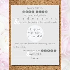 Wedding Vows - I Vow To Help You