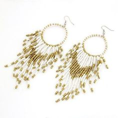 Hey, I found this really awesome Etsy listing at https://www.etsy.com/listing/192457162/white-gold-plated-dream-catcher-earrings