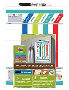 Board Dudes Magnetic Dry Erase Rewards Chore Chart with Marker and Magnets (DFB55) The Board Dudes http://www.amazon.com/dp/B00114UCYS/ref=cm_sw_r_pi_dp_71vhvb0S8TWYR