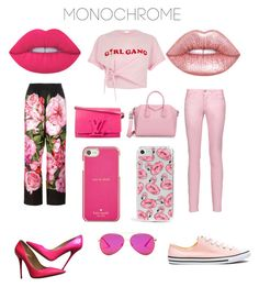 """Day to Night Girl Gang"" by bevlash on Polyvore featuring River Island, Jimmy Choo, Lime Crime, Just Cavalli, Skinnydip, Dolce&Gabbana, Givenchy, AQS by Aquaswiss, Converse and Kate Spade"