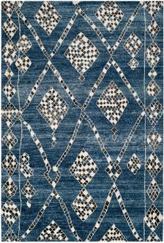 Rug MOR553B - Safavieh Rugs - Moroccan Rugs - Viscose & Cotton Rugs - Area Rugs - Runner Rugs