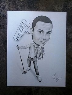 #retrato #caricatura #cantante