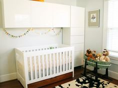 Add space and storage to your nursery with these simple design strategies from HGTV.com.
