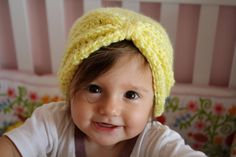 Lemon Yellow Mini Turban Winter Hat For by lovelycorporation, $28.00