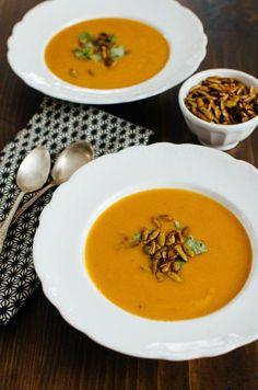 #Recipe: Squash & Lemongrass Soup with Spiced Pumpkin Seeds