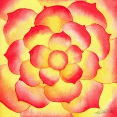 easy watercolor flowers - Google Search