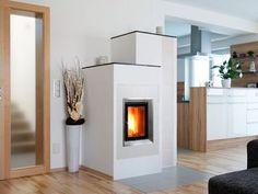 Kachelofen Modern Produkte - moderne Kamine & Kachelöfen vom Profi Cabin, Home Decor, Wood Burning Fireplaces, Stoves, Home Living Room, Dining Rooms, Full Bath, Contemporary Fireplaces, Tiling