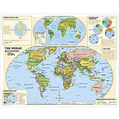 Beginners World And U S Education Maps Grades K 3