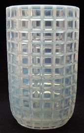 Victorian Pattern Glass Celery Vase Store  1888 HONEYCOMB aka CHECKERED BAR by Beatty & Sons Glass co.