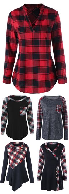 Plaid Christmas Outfit Collection |From $1.99| Sammydress.com | #blackfriday