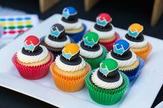 #Voltron Force Idea for a Birthday Party. Cupcakes could be customized and made in your own kitchen. Homemade & perfect!