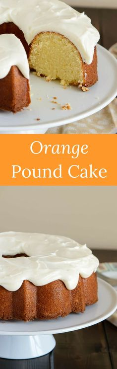 This simply sweet glazed orange pound cake has a perfectly light orange flavor and it's wonderfully moist. via @introvertbaker