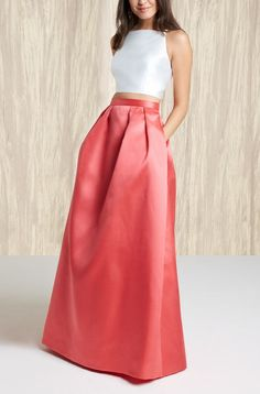 This gorgeous two-piece satin ballgown is in the running for prom.