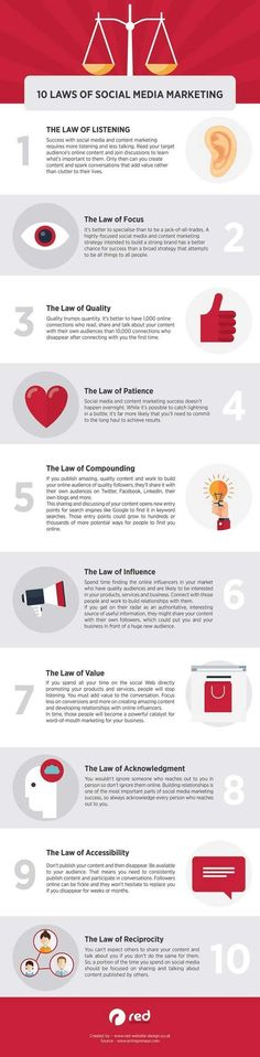 10 Laws of Social Media Marketing - Infographics http://www.websitemagazine.stfi.re/content/blogs/infographics/archive/2016/09/06/10-laws-of-social-media-marketing.aspx?sf=oovenpj