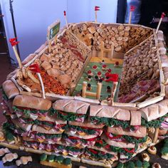 Drum roll, please... May we present the Pillsbury Snackadium. #Foodball Foods #Party Foods #Entertaining #Superbowl #Football Playoff games #Sunday Game Day !! #Are you ready for some Football