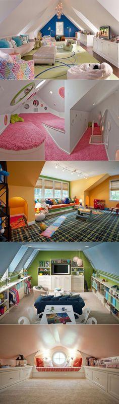 Attic Playroom - | Playrooms, Knee Walls and The Attic