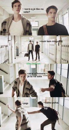 Eu na vida OBS: foto de montagem Teen Wolf Memes, Teen Wolf Tumblr, Teen Memes, Teen Wolf Funny, Teen Wolf Isaac, Teen Wolf Scott, Teen Wolf Stiles, Cenas Teen Wolf, Dylan Obrian