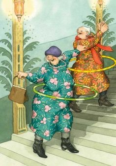 Trendy funny love illustration inge look 19 Ideas Old Lady Humor, Old Folks, Image Originale, Dibujos Cute, Young At Heart, Whimsical Art, Old Women, Getting Old, Alter