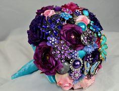 DIY brooch bouquet plus silk flowers by TinyCarmen
