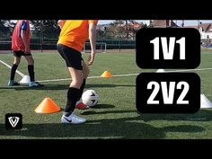 A fun and football drill including change of direction / agility with and without ball. Young football / soccer players love it! Defender can score i. Soccer Coaching, Soccer Training, Football Drills, Football Soccer, Soccer Gifs, Soccer Players, Tennis, Youtube, Soccer