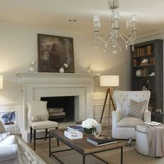 Painted Fireplace And Mantle Design, Pictures, Remodel, Decor and Ideas - page 4