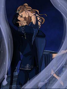 Rhys and Feyre: art by oblivionsdream on tumblr