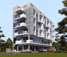 hotel design by egmdesigns Residential Building Design, Modern Residential Architecture, Hotel Architecture, High Building, Building Facade, Building A House, Town House Floor Plan, Contemporary Building, Hotel Apartment