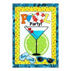 Pool Party - SRF Custom Invitations