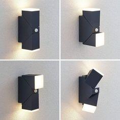 LED Wandleuchte Albin Rechteckig Beton Licht Oben Unten Lindby Grau G9 Flur