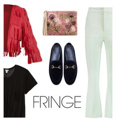 """Fringe On Top"" by arrow1067 ❤ liked on Polyvore featuring Hinge, Opening Ceremony, Gucci, Sam Edelman and fringe"