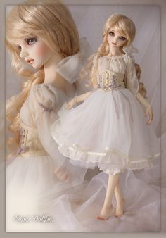 So beautiful! I think the doll's face profile is like a little girl's