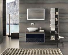 Cette salle de bains tendance, au style corporate, est tout en style. Ka combinaison de bois, de structure, et de lumière directe créent un style unique ••• Deze trendy, corporate style badkamer is één en al stijl. De combinatie van hout, structuur en direct licht creëren een uniek gevoel.