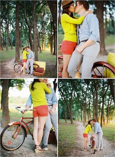 Go on a bike ride with husband/fiancé/boyfriend/etc. & take cute pictures!