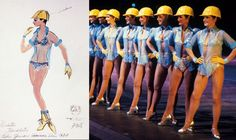"#Rockettes hard at work! Frank Spencer constructed this costume for the 1977 ""Salute to NY"" show at #RadioCity. #WardrobeWednesday"