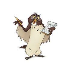 Owl from Disney's new movie, Winnie the Pooh - Disney