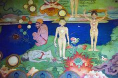 Lukhang Murals Showing Meditations on Internal and External Lights