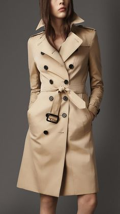 I love this coat, but why does it cost as much as a couch? Long Cotton Gabardine Slim Fit Trench Coat | Burberry