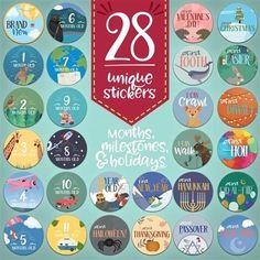 Month & Mile Stone Stickers -Adventure