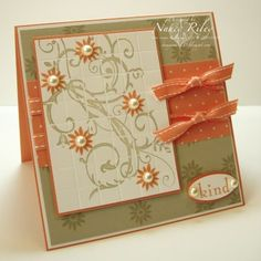 i STAMP by Nancy Riley: BAROQUE MOTIFS--love the color combo