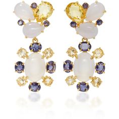 Bounkit Chalcedony and Lemon Quartz Two-Way Earrings (4.997.630 IDR) ❤ liked on Polyvore featuring jewelry, earrings, blue, earring jewelry, bounkit earrings, chalcedony jewelry, lemon quartz earrings and blue chalcedony jewelry