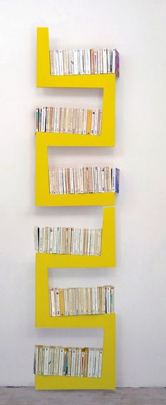 Wall-mounted shelving unit SNAKE by La Corbeille Editions | #design Benjamin Faure