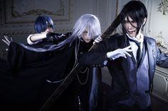☆Choose your fighter☆ 🔵/⚪/⚫ ~\~\~\~\~\~\~\~\~\~\~\~\~\~ Undertaker Cosplay, Ciel Cosplay, Cosplay Boy, Epic Cosplay, Amazing Cosplay, Cosplay Outfits, Cosplay Costumes, Black Butler Meme, Black Butler Cosplay