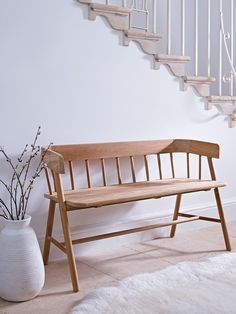 Not as deep as the Ercol bench Cox and Cox ; Beautifully handcrafted from…