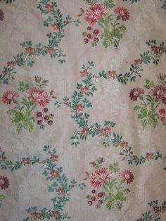 Brocaded silk, 1760-80
