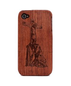 Jesus Engraved Rosewood iPhone4/4s Wood Case