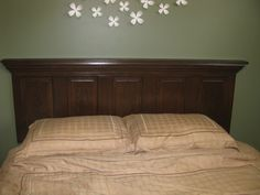 old door headboard tutorial. A use for an old door from our house