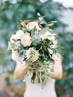 wild garden rose bouquet by Poppy Culture